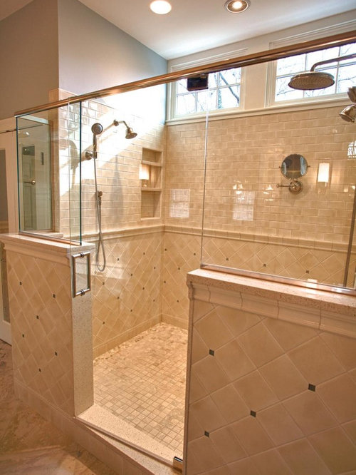 Shower designs with ceramic tile