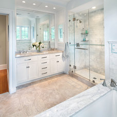 Transitional Bathroom by Anthony Wilder Design/Build, Inc.