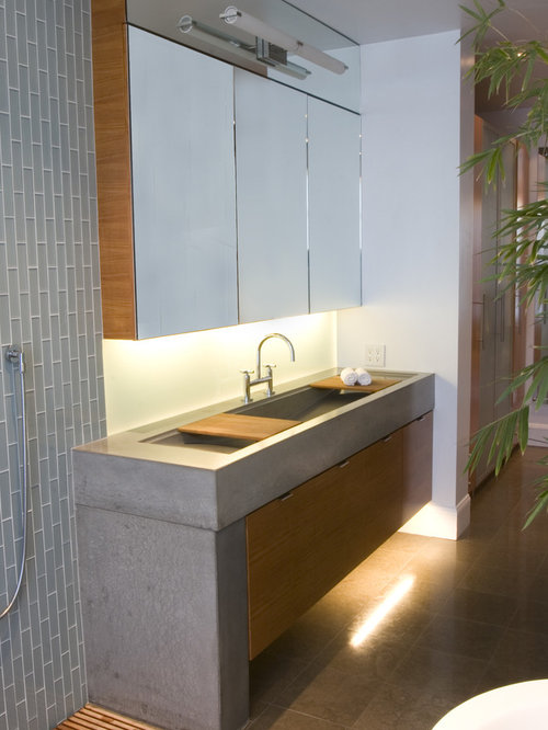 Floating Concrete Sink Home Design Ideas Pictures Remodel And Decor