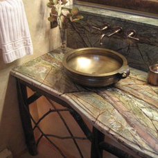 Eclectic Bathroom by Shelley Sims/Thrive Design