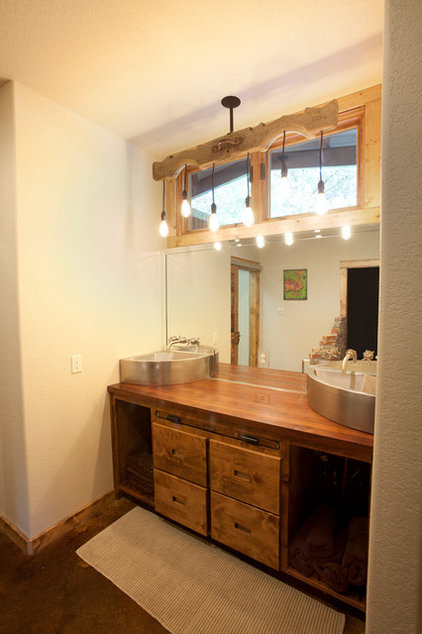 Rustic Bathroom by Wright-Built