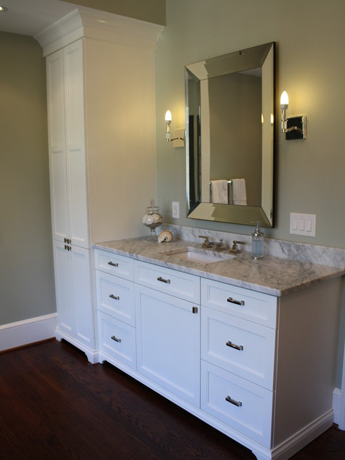 Custom Bathroom Vanities With Linen Tower linen tower | houzz