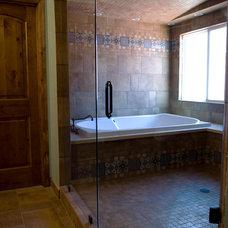 Mediterranean Bathroom by Holtzman Home Improvement LLC