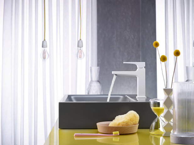 Bathroom Matte white faucet by Hansgrohe