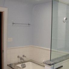 Contemporary Bathroom by MATTHEW KRIER - Design Group Three - Milwaukee
