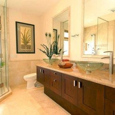 Tropical Bathroom by Tervola Designs
