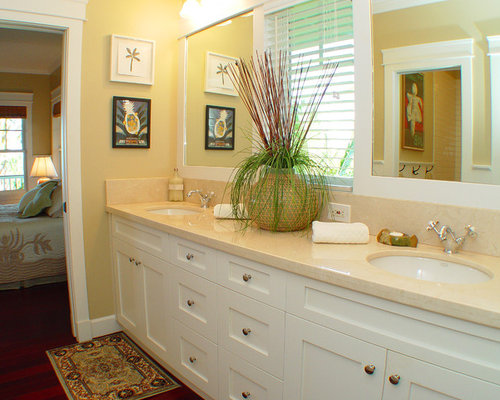 Tropical Bathroom Beach Decor: Shaker Door Style Home Design Ideas, Pictures, Remodel And