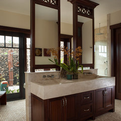 tropical bathroom by Henderson Design Group