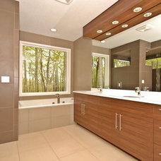 Modern Bathroom by Vision Homes & Remodeling