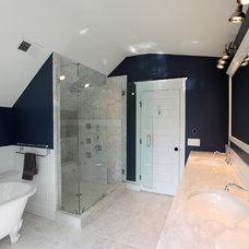 Farmhouse Bathroom by SAI Contracting