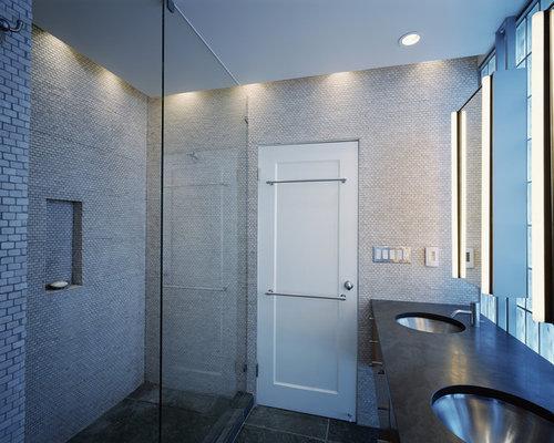 Modern Mosaic Tile Bathroom Idea In San Francisco