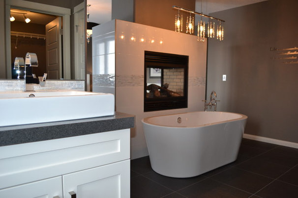 Transitional Bathroom by McGonigal Signature Homes