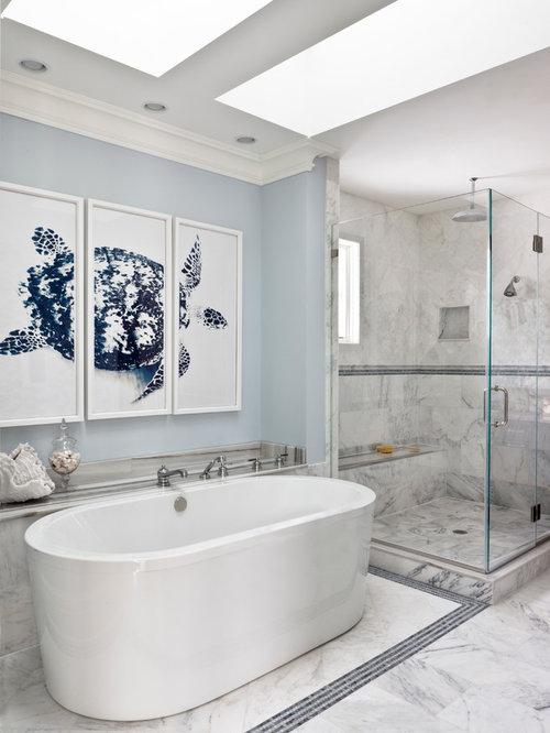 maritime badezimmer mit freistehender badewanne design ideen beispiele f r die badgestaltung. Black Bedroom Furniture Sets. Home Design Ideas