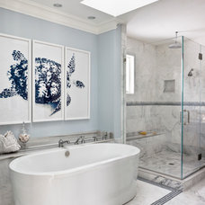 Beach Style Bathroom by Christine Huvé Interior Design