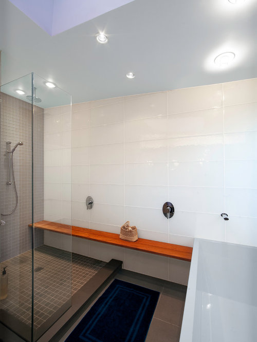White Glass Tile Houzz