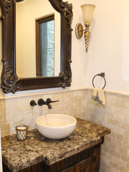 Small Mediterranean Bathroom Design Ideas Remodels Photos