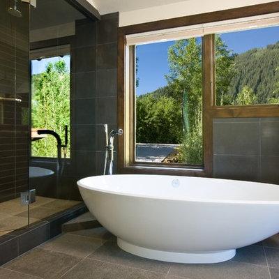 Freestanding bathtub - contemporary freestanding bathtub idea in Denver