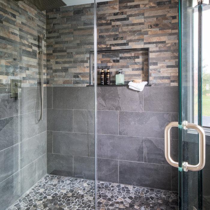 Master Bath Stone tile shower