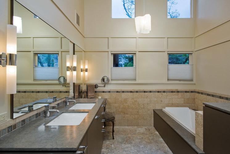 Contemporary Bathroom by Hughes Studio Architects