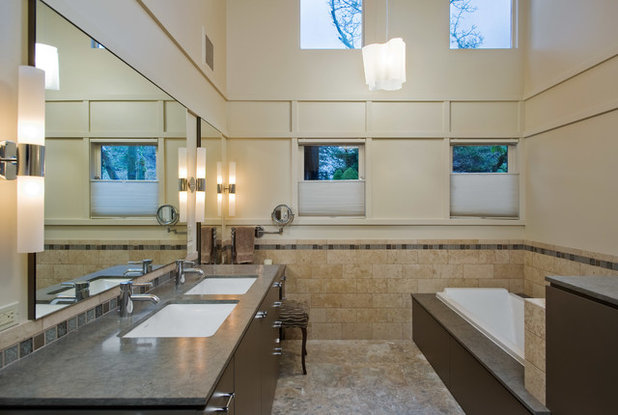 Cute Contemporary Bathroom by Hughes Studio Architects