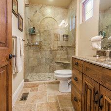 Mediterranean Bathroom by MaxMark Homes, LLC