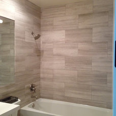 Beach Style Bathroom by FROM THE GROUND UP TILE & STONE, INC