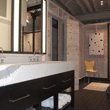 Industrial Bathroom by J. Ryan Duffey Architect