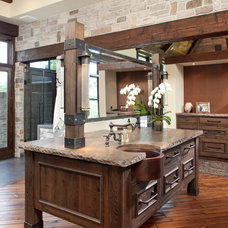 Rustic Bathroom by John Kraemer & Sons