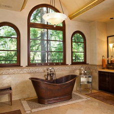 Mediterranean Bathroom by Alison Whittaker Design, Inc.
