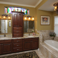 mediterranean bathroom by BeeTree Homes