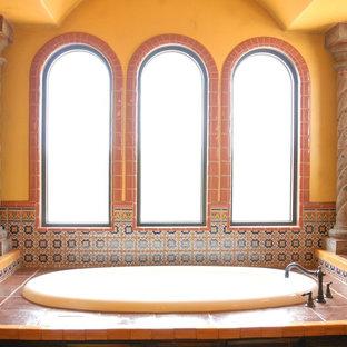 Photo of a mediterranean bathroom in Austin.