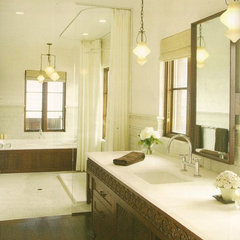 mediterranean bathroom by kmh design, inc.