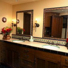 Mediterranean Bathroom by Marlene Oliphant Designs LLC