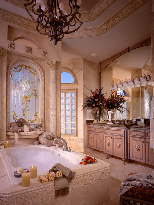 Custom bathroom mirrors houzz for Beautiful master bedrooms and bathrooms