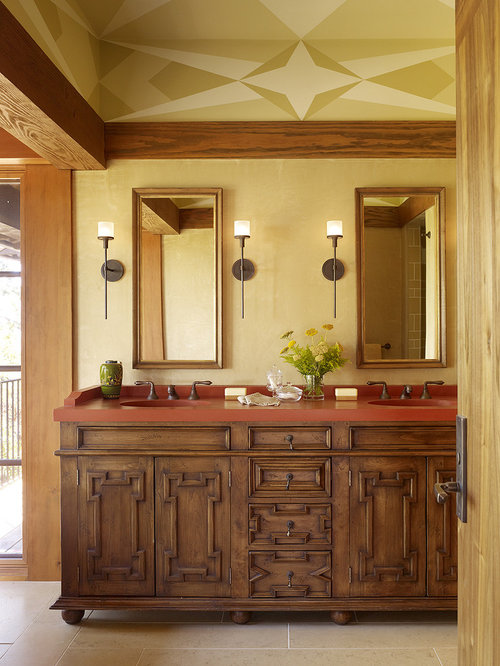 Bathroom Lights Rusting rust countertop | houzz