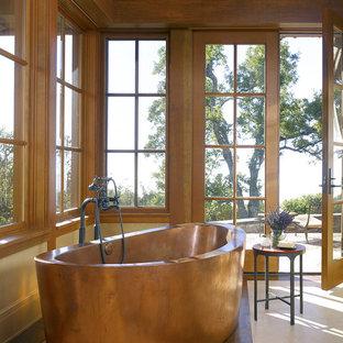 Design ideas for a mediterranean bathroom in San Francisco with a freestanding bath.