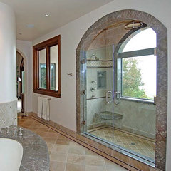 mediterranean bathroom by Susan Jay Design