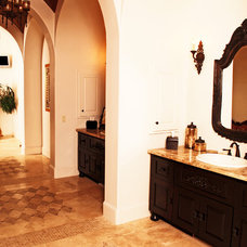 Mediterranean Bathroom by JOHN DANCEY Custom Designing/Remodeling/Building