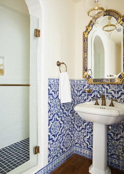 Mediterranean Bathroom by Madeline Tolle