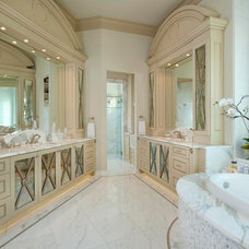 Mediterranean Bathroom by AVID Associates LLC