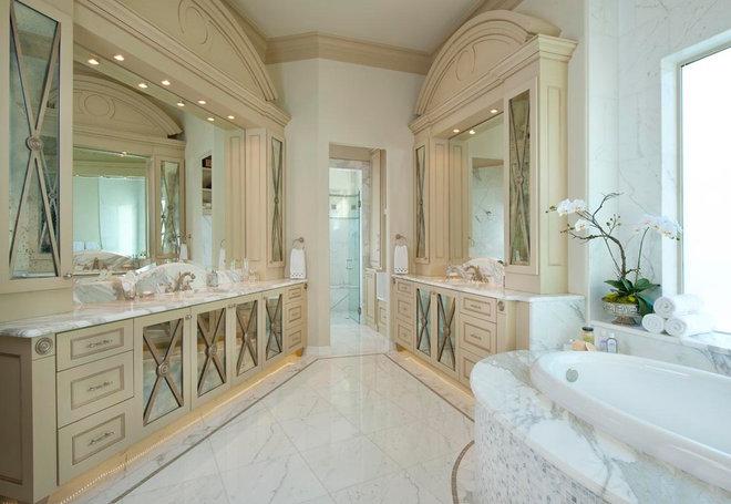 Mediterranean Bathroom by AVID Associates LLC