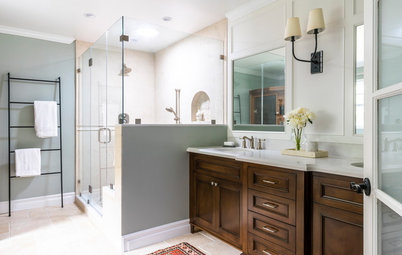 Spa-Like Bathroom Nods to Mediterranean Style