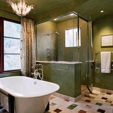 Mediterranean Bathroom by Polsky Perlstein Architects