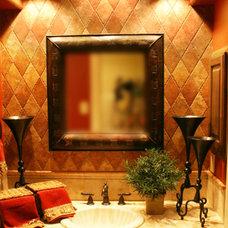 Mediterranean Bathroom by Diamante Custom Homes