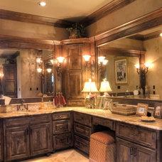 Mediterranean Bathroom by Curtis Cook Designs
