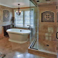 Mediterranean Bathroom by Finecraft Contractors, Inc.