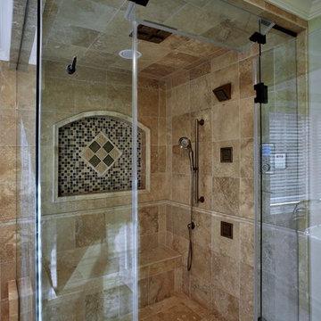 Mediterranen-style master bathroom