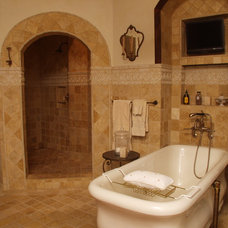 Mediterranean Bathroom by Wells Design Contracting Inc.