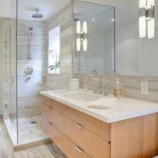 Contemporary Bathroom by Meghan Carter Design Inc
