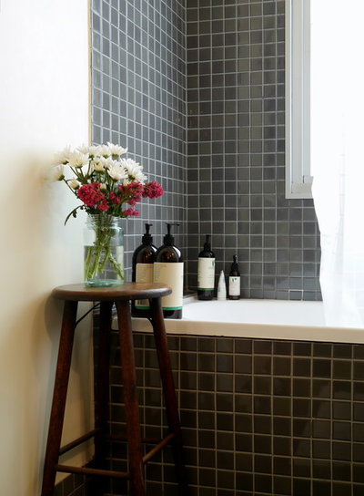 Industrial Bathroom by Kate Hansen Photography